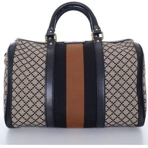 GUCCI Web Boston Diamond Print Limited Edition